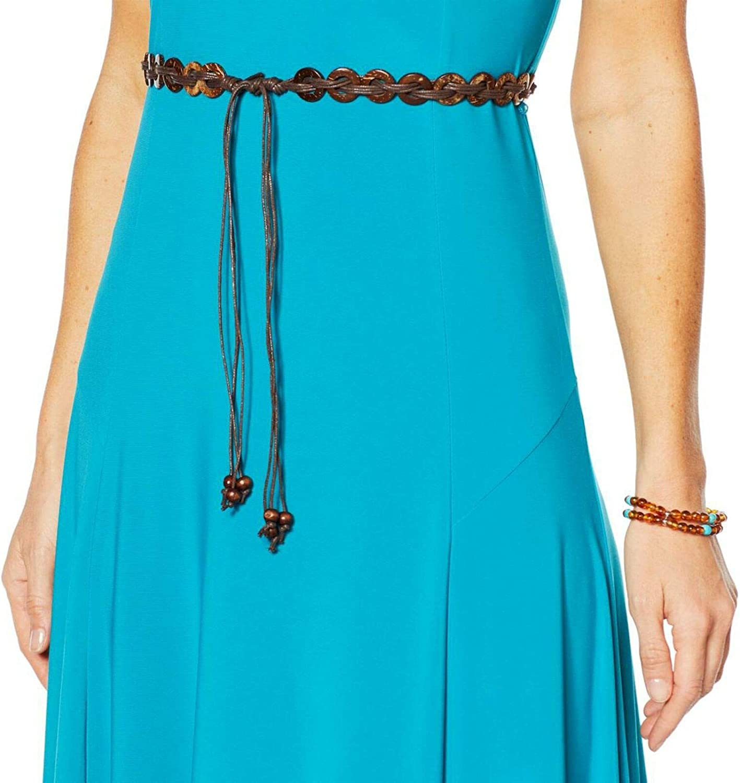 Nina Leonard Sylvia Midi Dress Removable Belt French Lilac L NEW 643-206