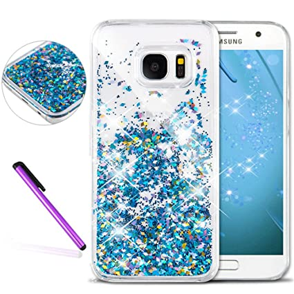 sports shoes b2afd d9d18 S6 Edge Cover Samsung Galaxy S6 Edge Case for Girls EMAXELER 3D Creative  Design Angel Girl Flowing Liquid Floating Bling Shiny Liquid PC Hard Cover  ...