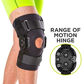 8afc9b7d5f BraceAbility Torn Meniscus ROM Knee Brace | Hinged Post Surgery Support  with Flexion/Extension Control