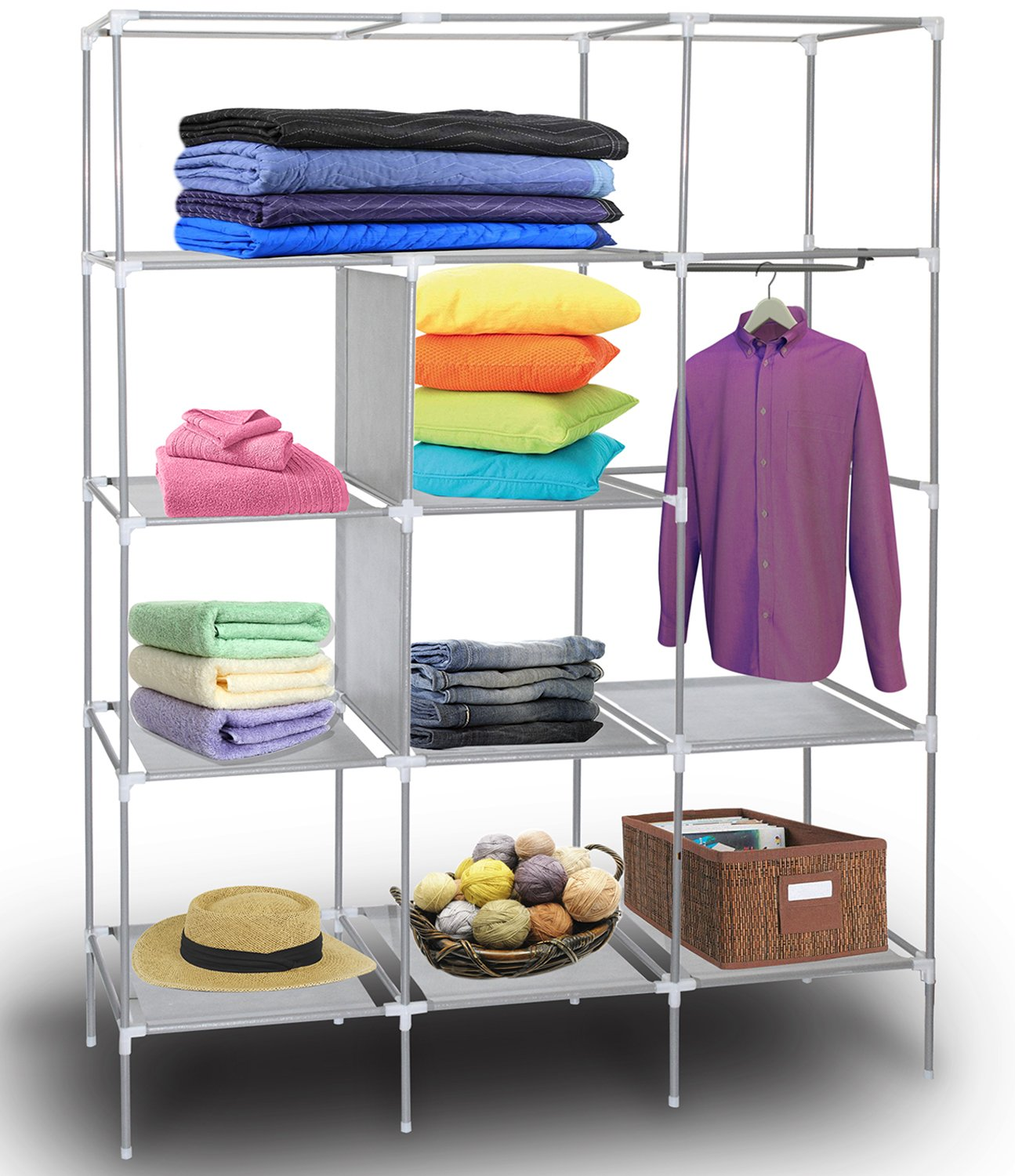 Amazon Portable Storage Organizer Wardrobe Closet & Shoe Rack