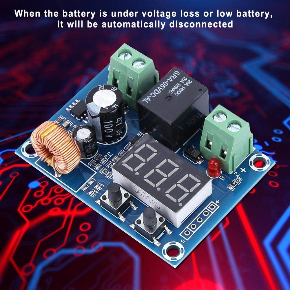 placa de control de carga y descarga M/ódulo de protecci/ón de pantalla digital de cortocircuito de XH-M609 12-36V M/ódulo de protecci/ón de desconexi/ón de bater/ía de CC de bajo voltaje de sobrecorriente