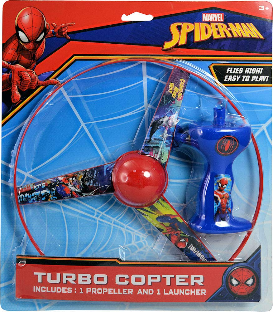 Spider-Man Basketball Set, Turbo Copter, Disc Launcher, and Stickerpad Bundle by Clever Home (Image #4)