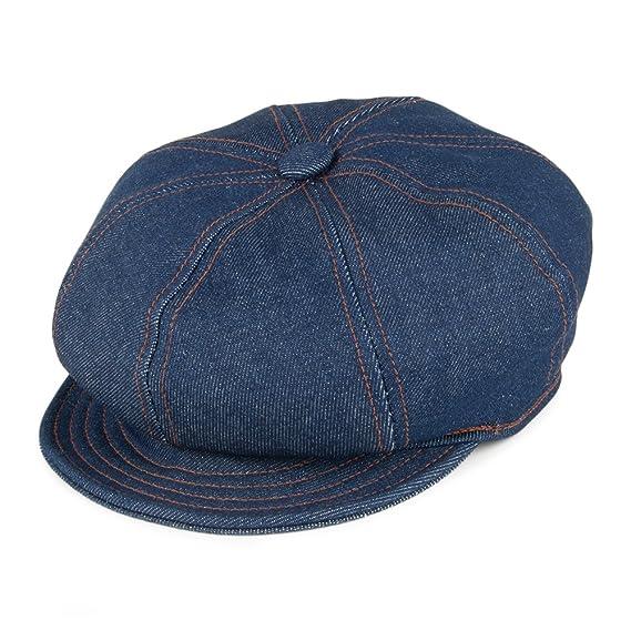 Village Hats New York Hat Co. Denim Stitch Baker Boy Cap - Denim Large b6e588052d3