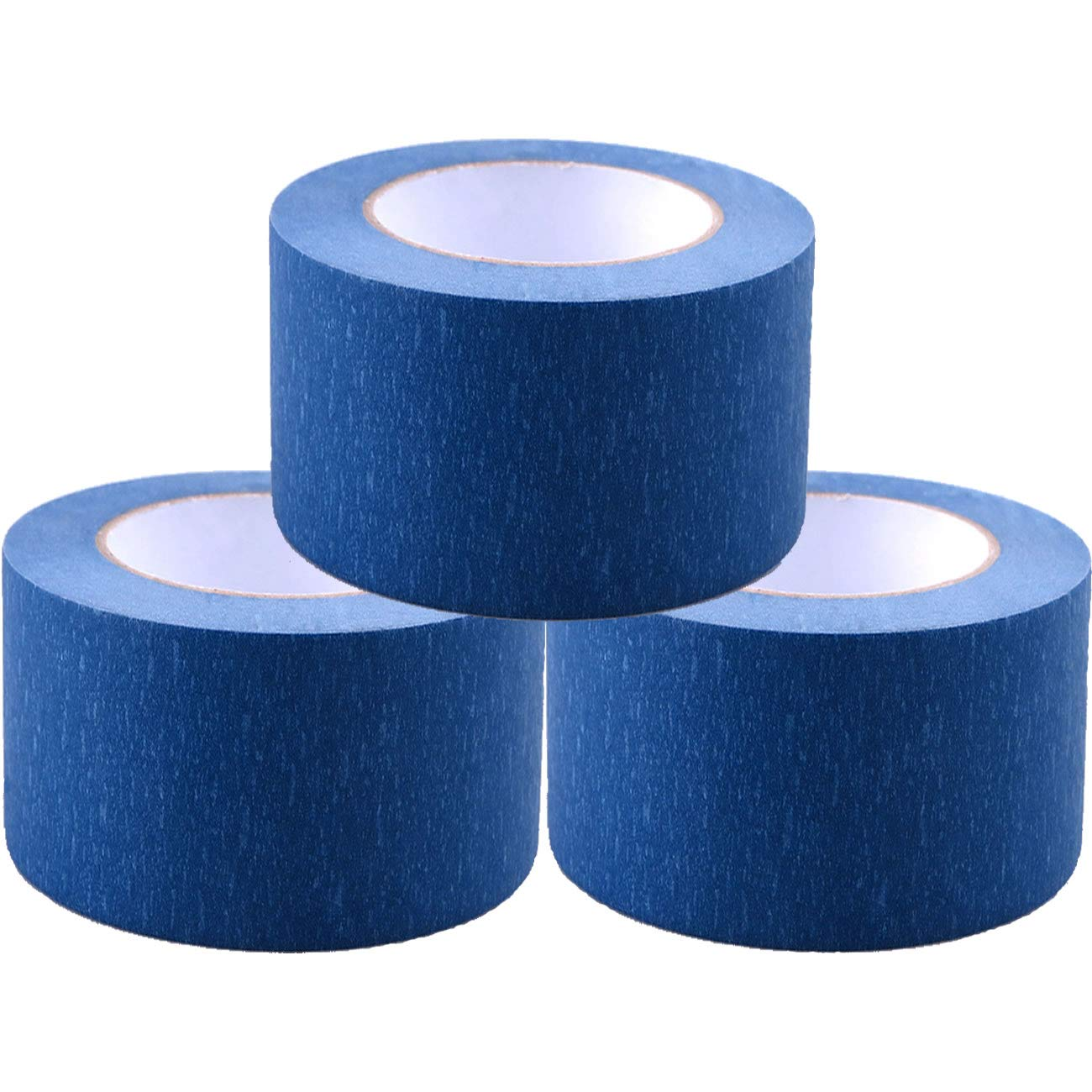 Painters Tape 3pk 2'' x 60 yd | Professional Blue Painters Masking Tape | Easy and Clean Removal | Multi Surface Use | ISO 9001 Worldwide Quality | Leaves No Residue Behind | (48mm .1.88in) (3 Pack)