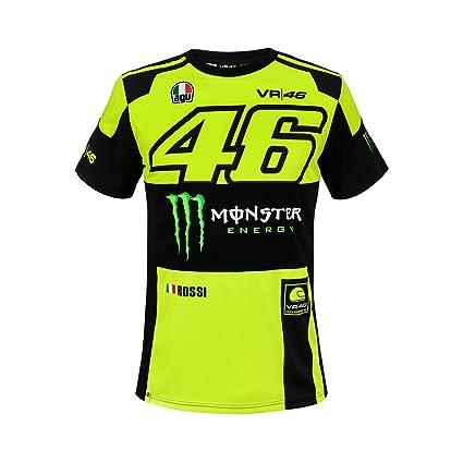 Vr46 Valentino Rossi Herren T Shirt Monza Monster Energy