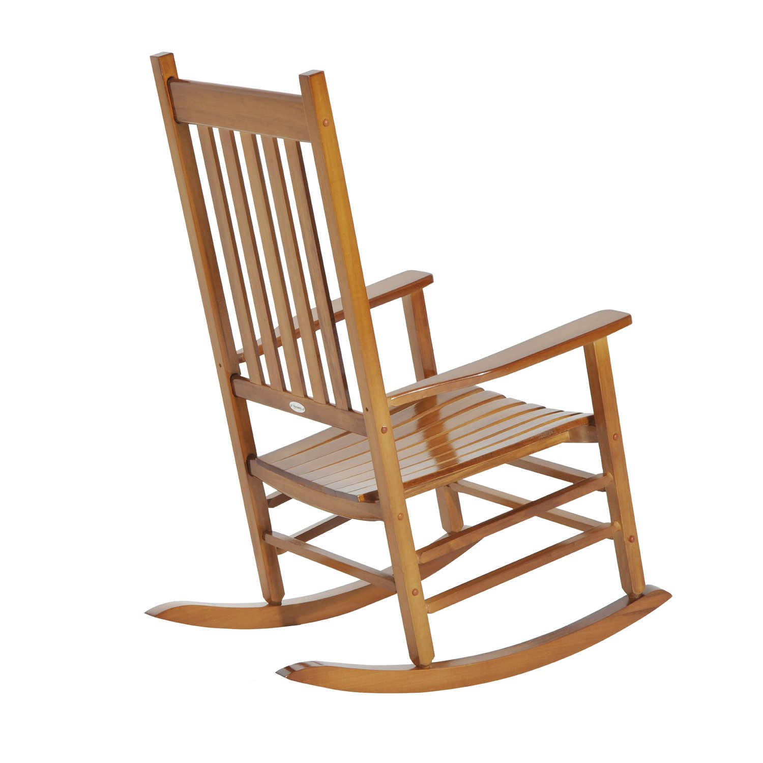 Amazon Outsunny Porch Rocking Chair Outdoor Patio Wooden