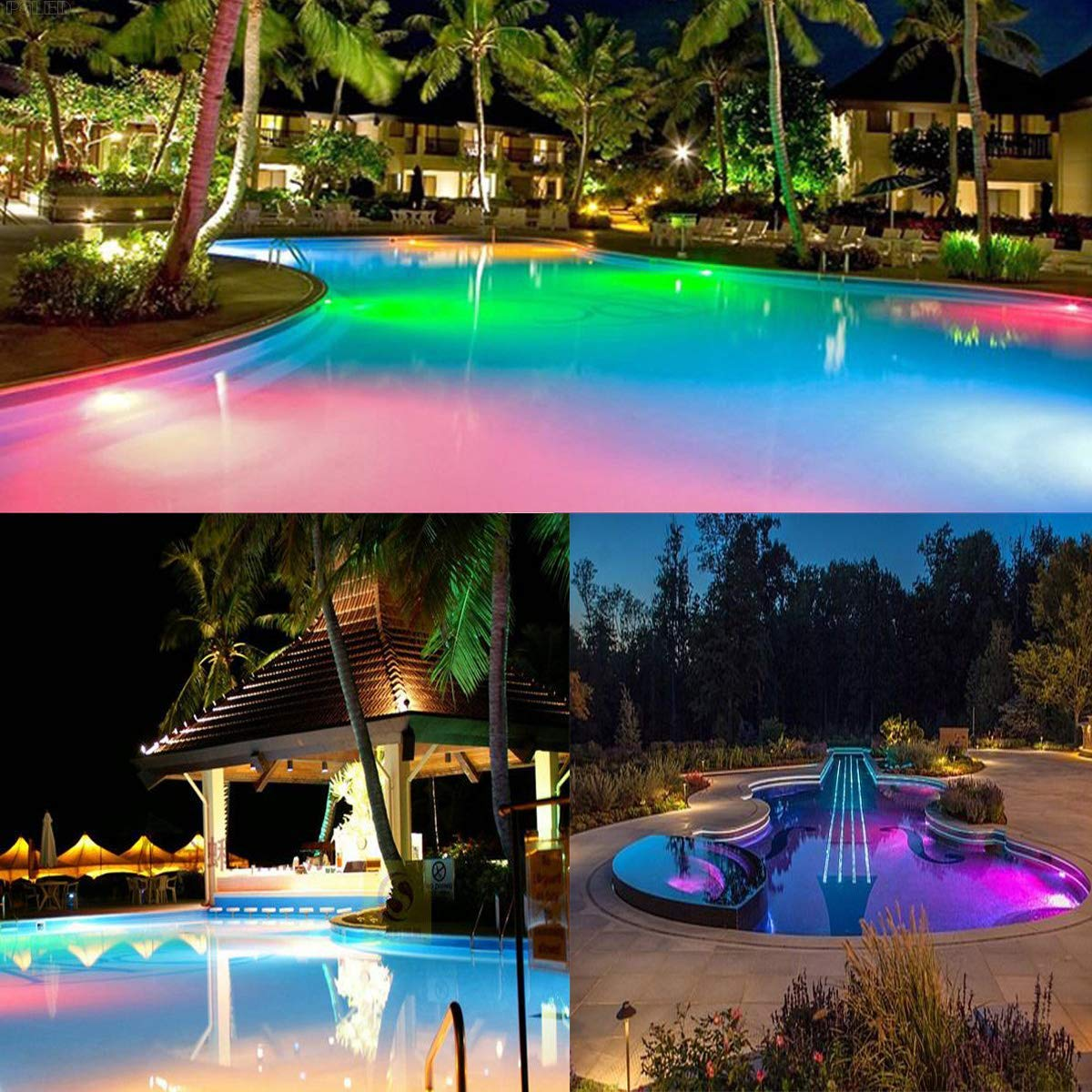 for Pentair Hayward Light Fixture,and for Inground Pool Fits Light Fixture E26//E27 Color Memory 12V 35W AC//DC Color Changing Swimming Pool Lights LED Bulb Switch Control + Remote Control Type