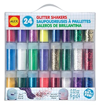 amazon com alex toys artist studio 24 glitter shakers toys games