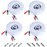 Annke 4 Pack Special Design 30M / 100 Feet BNC Video Power Cable For HD CCTV Camera DVR Security System (White)