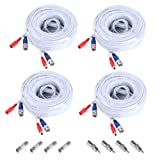 ANNKE (4) 30M/ 100 Feet BNC Video Power Cable For CCTV Camera DVR Security System (4 Pack,White)