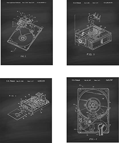 Computer Hardrive Patent Wall Art Prints