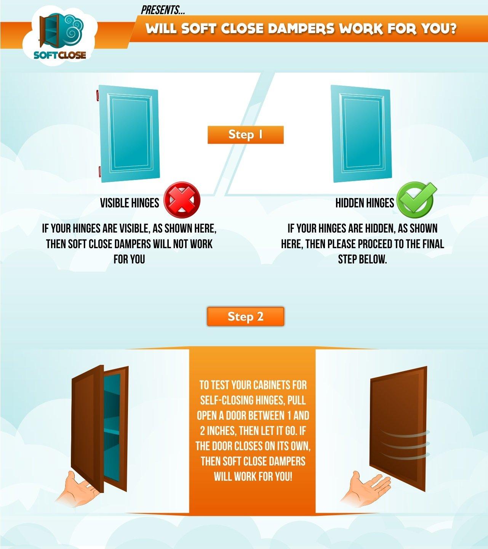 Good SALE 10 Pack SoftClose For Cabinet Doors / Compact / Metal Soft Close  Adapter / Damper / Hardware / Zinc / Hinge / European Made!