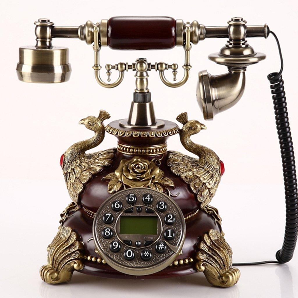 hermoso Marrón De estilo europeo Teléfono Teléfono Teléfono 180 creativo de la manera metal antiguo retro  Venta en línea precio bajo descuento