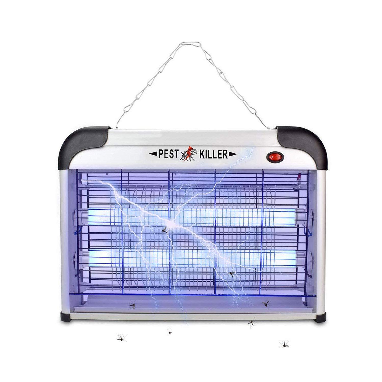 Micnaron Electric Bug Zapper/Pest Repeller Control-Strongest Indoor 2800 V 6000ft² UV Lamp Flying Fly Insect Killer Mosquitoes Flies Killer Repellent Traps Eliminator Catcher lure Zap kills Mosquito …