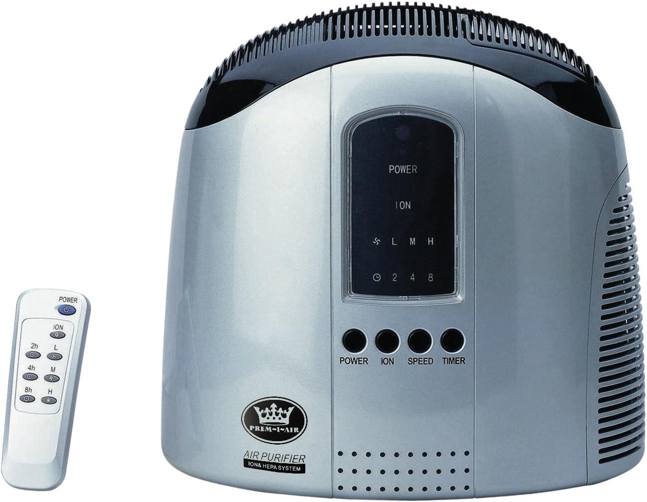 Prem-I-Air HM68801RC - Purificador de aire con ionizador y mando a ...