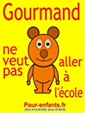 Gourmand ne veut pas aller à l'école: Pièce de théâtre pour enfants. C'est la rentrée des classes et Gourmand le petit ours ne veut pas aller à l'école.
