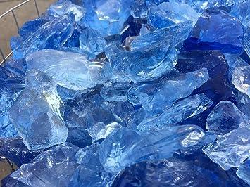 Gabionen Füllmaterial Glasbrocken Skyblue 50 - 150 mm 10 Kg: Amazon ...