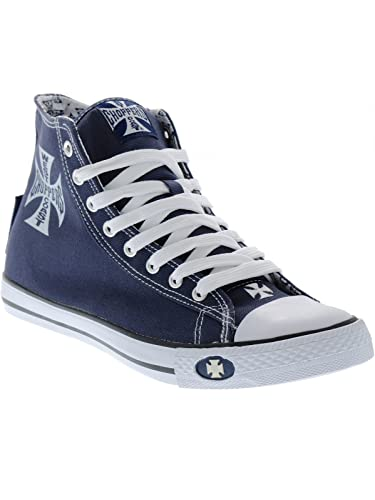 West Coast Choppers Navy-Blue Warrior Shoe (EU 39, Navy)
