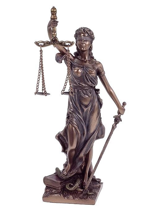 La dama de la justicia lanza, escultura, Escultura romana 21 cm