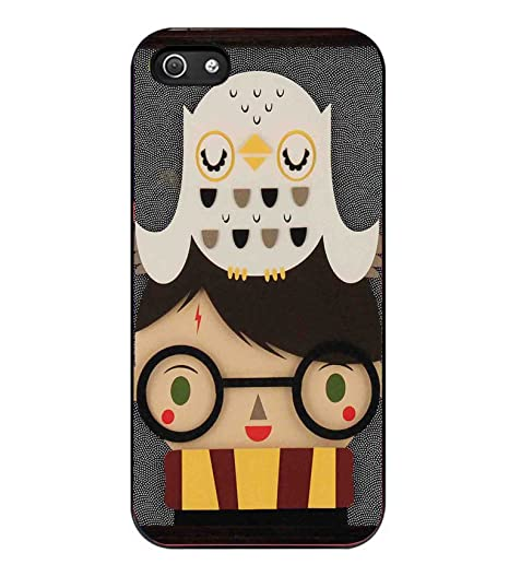 Cute Face Harry Potter and Hedwig Falls Funda Iphone 5/5S ...