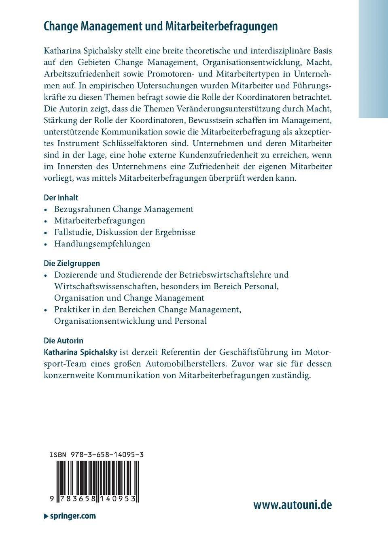 Change Management und Mitarbeiterbefragungen: Konzeptionelle ...
