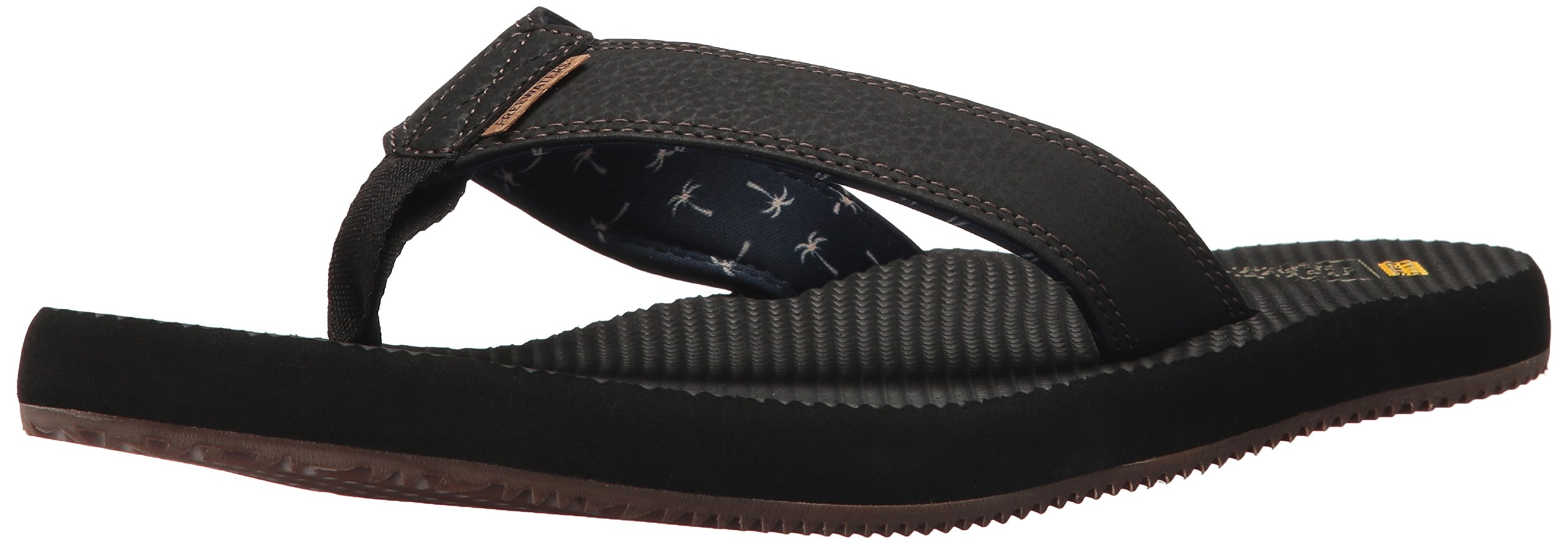 Freewaters Men's Supreem Dude Flip-Flop, Black, 11 Medium US by Freewaters (Image #1)