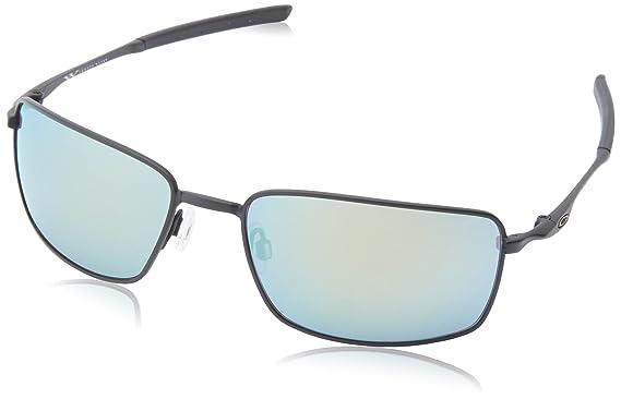 oakley square wire non polarized iridium rectangular sunglassesmatte black60 mm