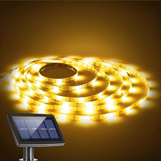Solar Powered 150 LED Strip Light Garden Path Xmas Decor Lamp Outdoor Waterproof