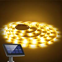 Solar Strip Lights, BESWILL 16.4 feet LED Flexible and Cuttable Solar String Lights, Waterproof IP 65, 2 Modes, Auto ON…