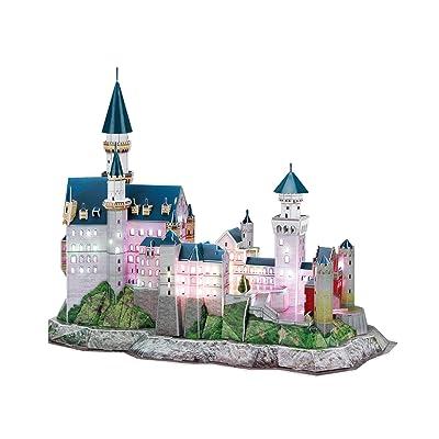 3D Puzzle Castillo de Neuschwanstein LED Neuschwanstein Castle LED Cubic Fun CUBICFUN: Juguetes y juegos