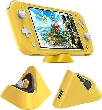 Muelle de carga para Nintendo Switch Lite, estación de soporte de carga compacta con puerto tipo C compatible con Nintendo Switch Lite 2019, estación de carga de soporte estable: Amazon.es: Bricolaje y