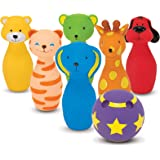 Melissa & Doug K's Kids Bowling Friends Play Set and Game With 6 Pins and Convenient Carrying Case
