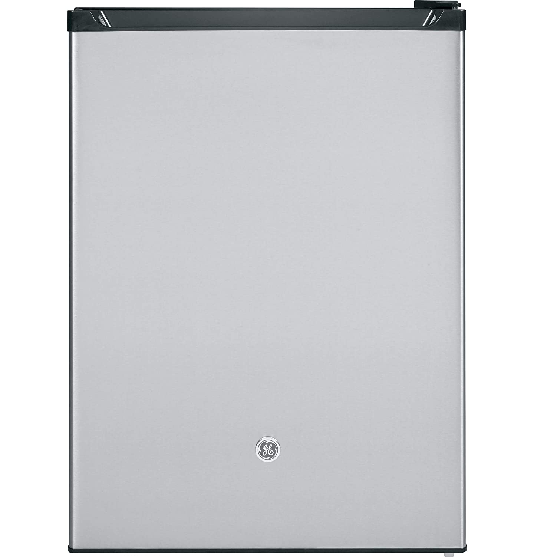 GE GCE06GSHSB Spacemaker 5.6 Cu. Ft. Compact Refrigerator, Stainless Steel, Reversible Door