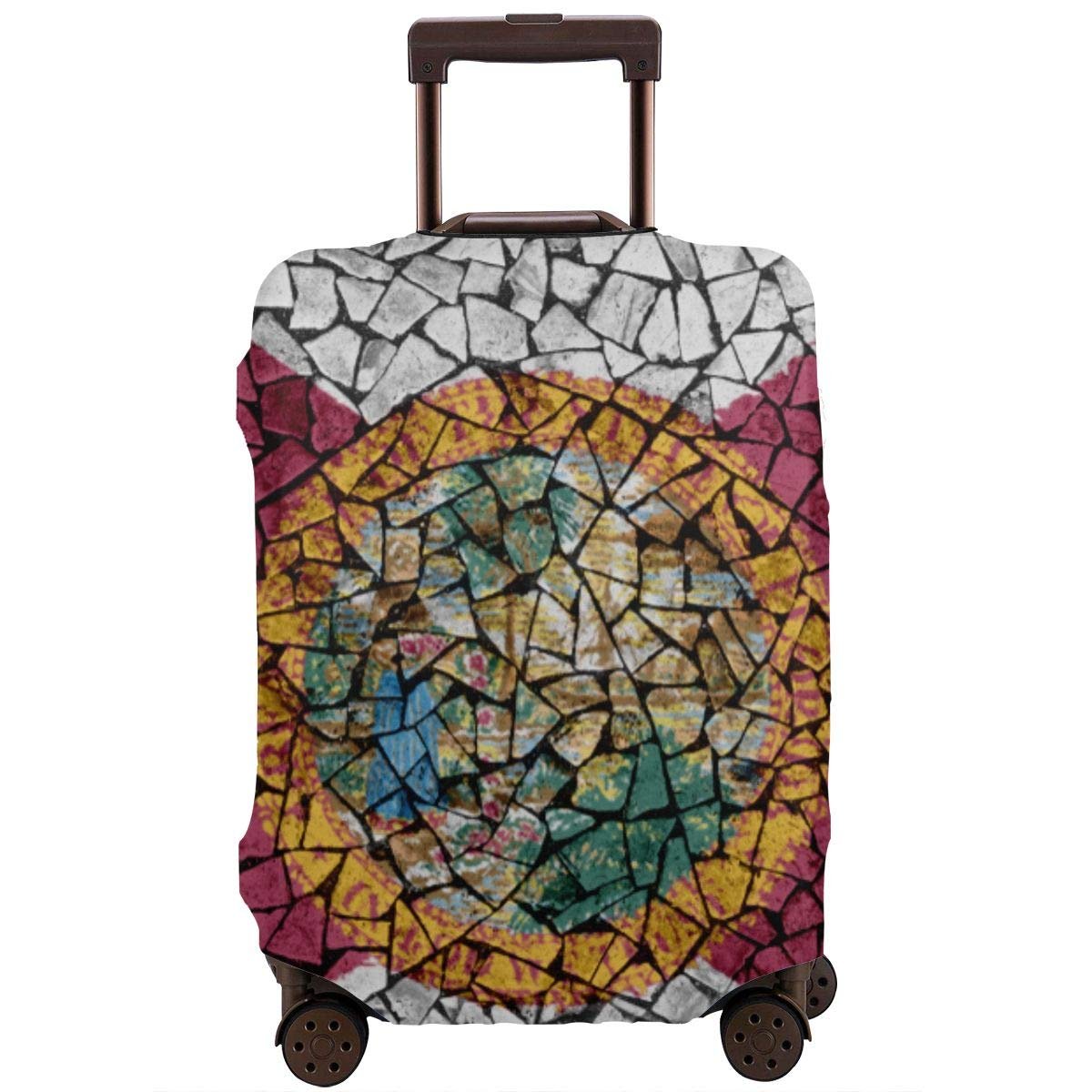 18-32 Inch Luggage Cover Protector Bag Suitcase Cover Protectors Travel Luggage Sleeve Protector S M L XL Mosaic Tiles Painting of Florida Flag US State Background XL