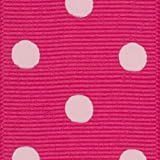 Offray Grosgrain Polka Dot Craft Ribbon, 1 1/2-Inch