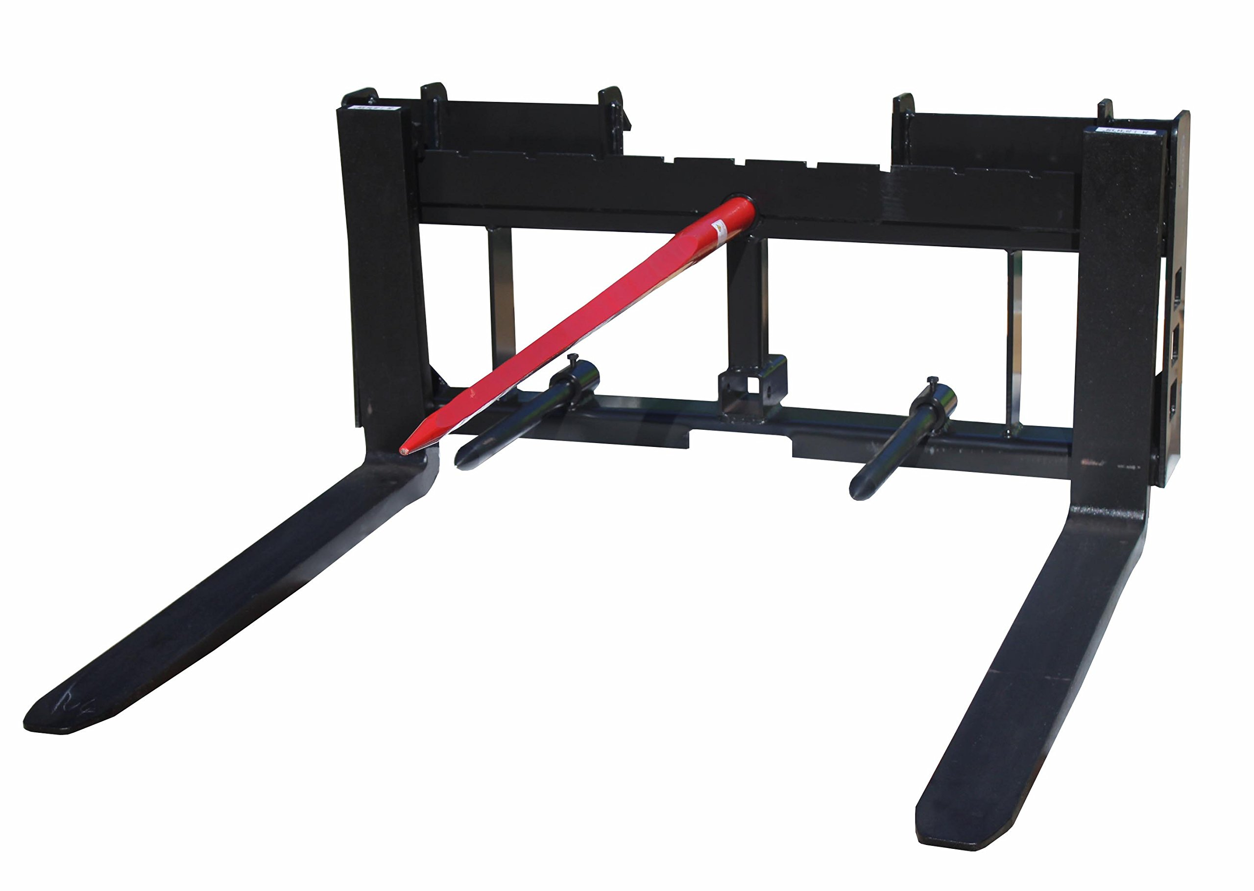 Titan Skid Steer 42'' Pallet Fork Attachment and 49'' Hay Bale Spear for Tractors by Titan Attachments