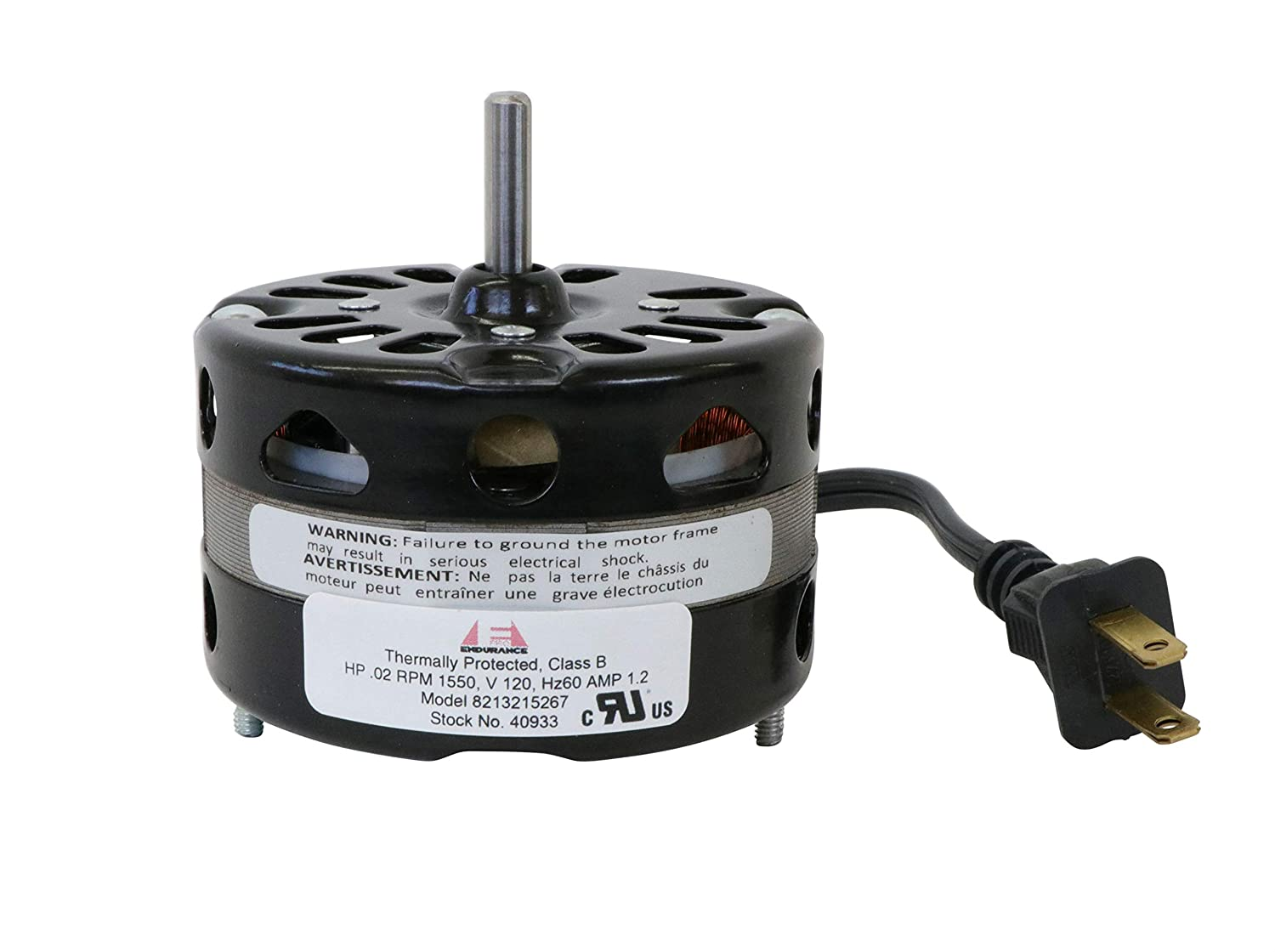 3.3 Inch Diameter Vent Fan Motor Direct Replacement For Nutone/Broan by Endurance Pro