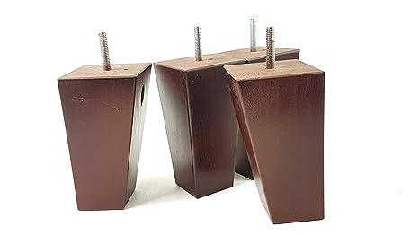 Knightsbrandnu2u 4 x legno di ricambio per piedi mobili gambe per