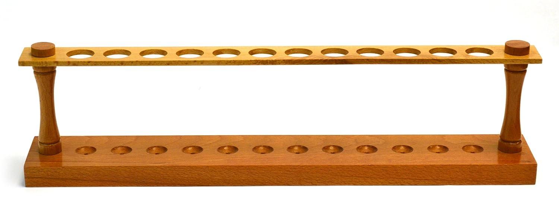 Eisco Labs Premium Wooden Test Tube Rack, (12) 22mm Holes, 16.75 ... for Laboratory Test Tube Holder  131fsj