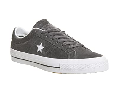 Converse Men's One Star Suede OX Low Top Sneaker - Thunder / White / White