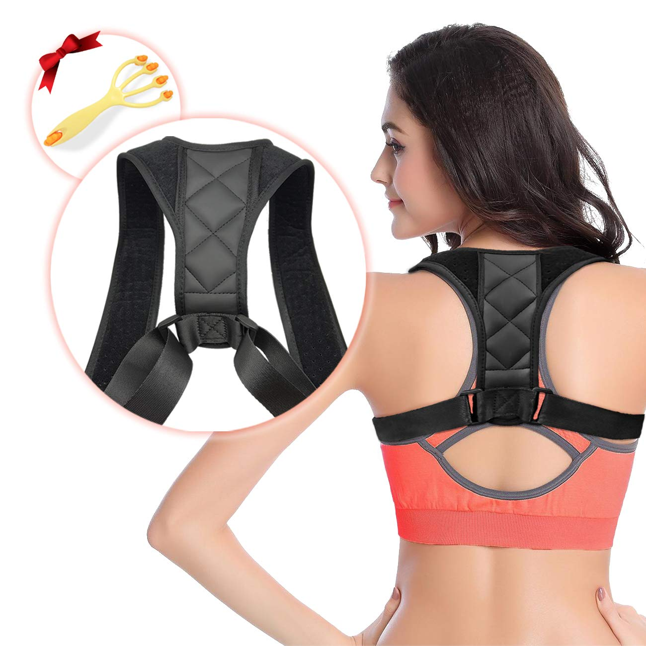 aee85fe91 Amazon.com  Back Brace Posture Corrector - S-World Kee Upper Back Support  Brace for Providing Pain Relief from Back