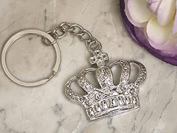 FavorOnline Silver Royal Crown keychain