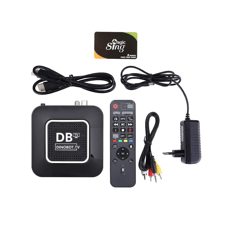 Dinobot u5mini 4/K UHD 2160P H.265/HEVC E2/Linux Android Dual Wifi DVB-S2//T2/C Combo Ricevitore satellitare