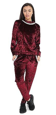 7 Fashion Road - Chándal - para Mujer Rojo Wine XL: Amazon.es ...