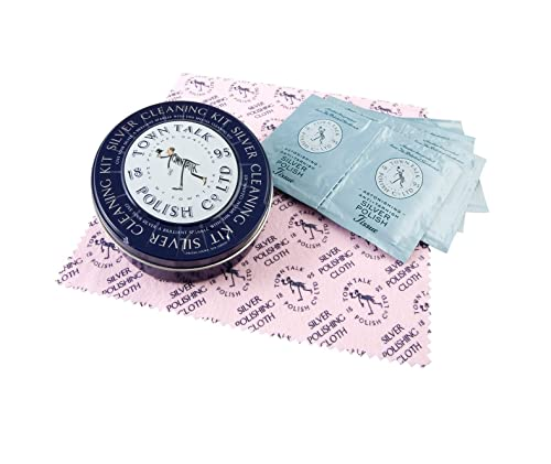 8 toallitas húmedas + un paño para abrillantar Plata 20 x 20 cm – pg072