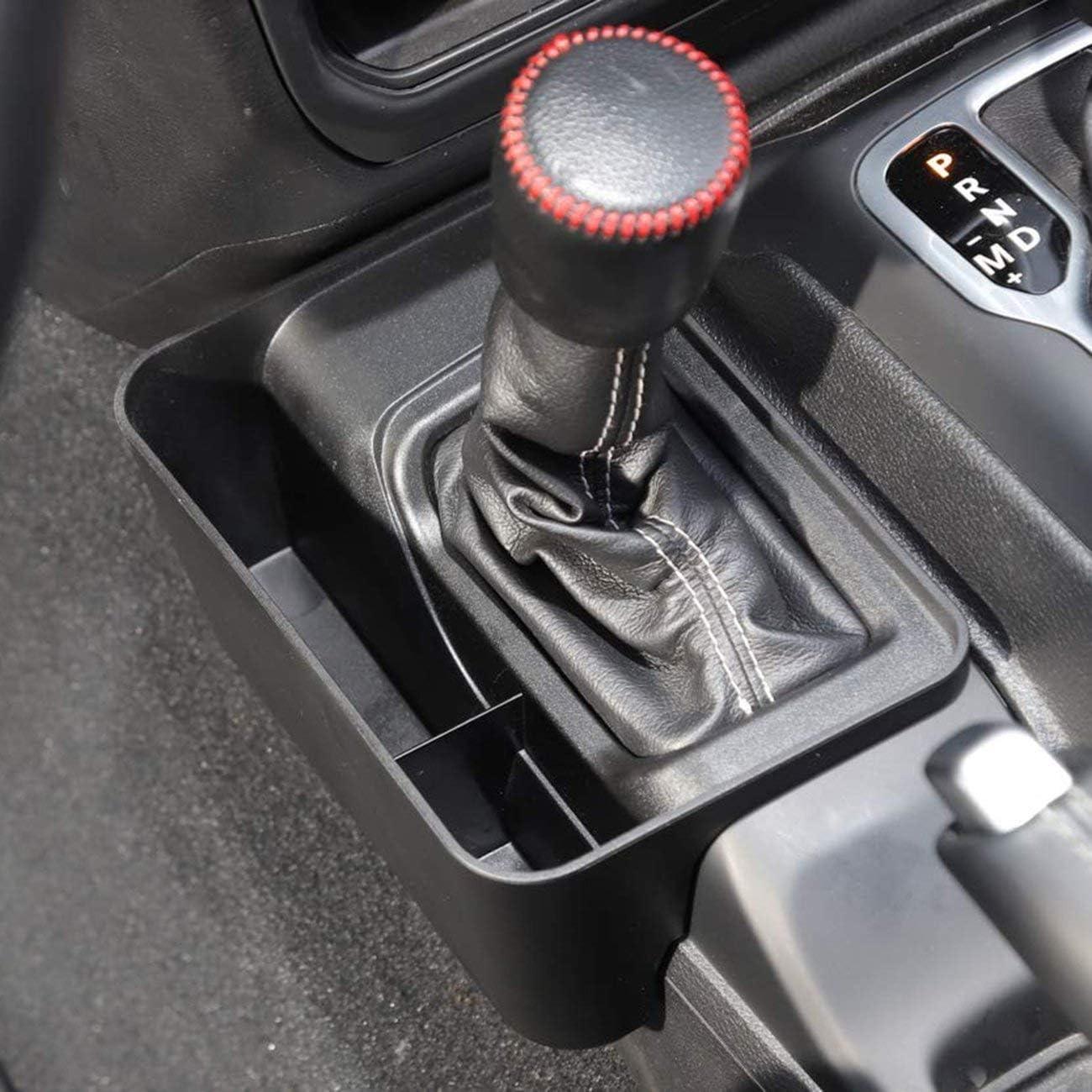 JIUY pour Jeep Wrangler JL JLU 2018 2019 Vitesse C/ôt/é bo/îte de Rangement Voiture t/él/éphone Portable M/êle Bo/îte de Rangement Fournitures de Voiture Noir