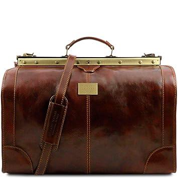 ab7c408c3c52 Tuscany Leather Madrid Sac de voyage en cuir - Grand modèle Marron ...