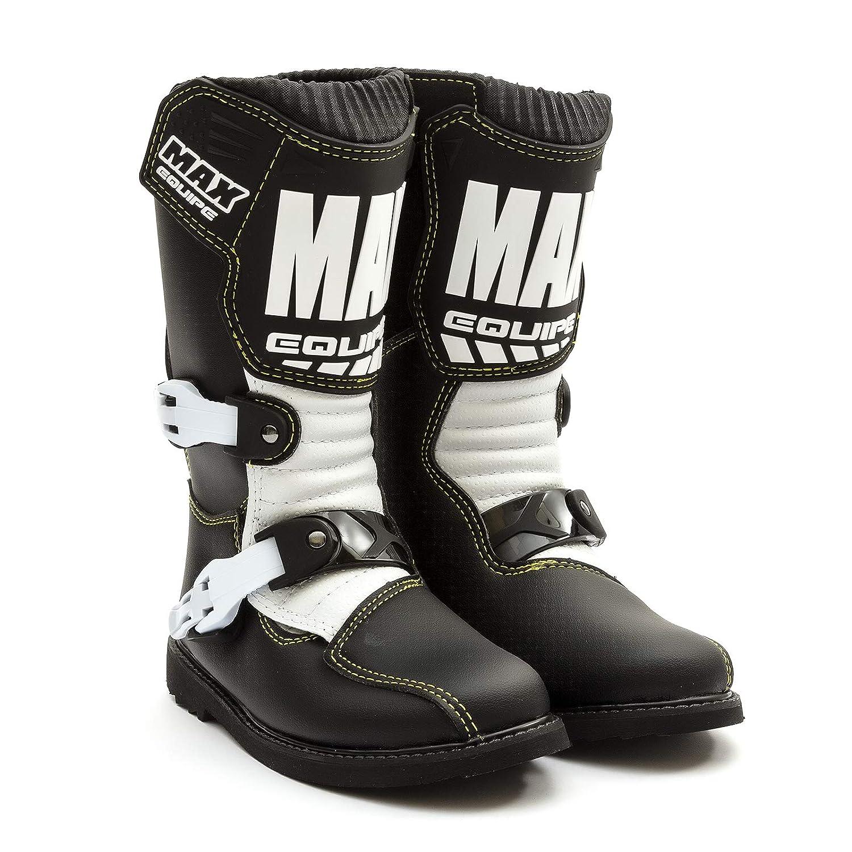 Wulfsport Kids Junior Cub Max Equipe Boots Black White Sizes 27-39 Motocross MX Enduro Pitbike Quadbike ATV EU 36 // UK 3.5