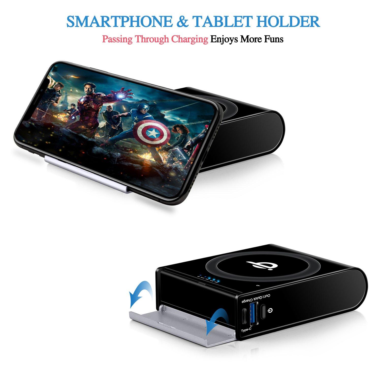 Wireless Power Bank 3-Port Portable Charger External Battery Pack