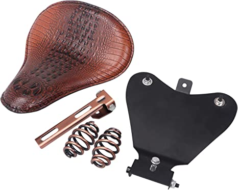 Diamond SOLO Driver Seat Bracket Saddle Barrel Spring For Harley XL883 XL1200 48